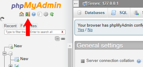Fix Lỗi: Select command denied to user 'pma'@'localhost' for table 'pma__tracking'